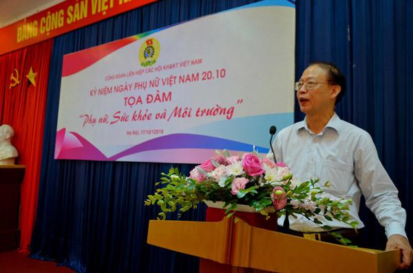 Phó Chủ tịch kiêm Tổng Thư ký LHHVN Phạm Văn Tân phát biểu chúc mừng