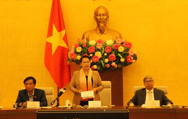 Chủ tịch Quốc hội Nguyễn Thị Kim Ngân gặp mặt trí thức khoa học và công nghệ tiêu biểu