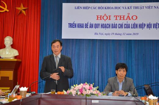 TS Phan Tùng Mậu – Phó chủ tịch Liên hiệp Hội Việt Nam phát biểu khai mạc hội thảo