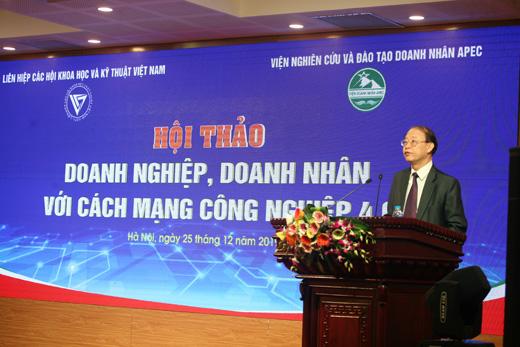 TS Phạm Văn Tân – Phó chủ tịch Liên hiệp các Hội Khoa học và Kỹ thuật Việt Nam phát biểu khai mạc