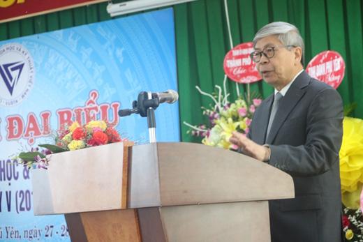 Chủ tịch Liên hiệp Hội Việt Nam Đặng Vũ Minh, phát biểu tại Đại hội đại biểu Liên hiệp Hội Phú Yên nhiệm kỳ V (2019-2024)
