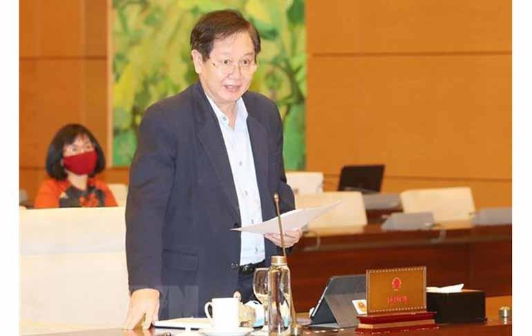 Bộ trưởng Bộ Nội vụ Lê Vĩnh Tân phát biểu kết luận hội nghị. Nguồn: baoquangninh.com.vn