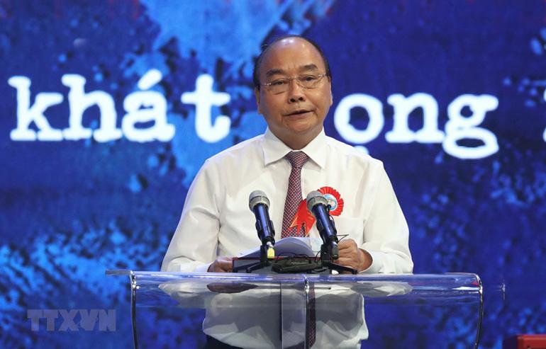 Thủ tướng Nguyễn Xuân Phúc phát biểu tại chương trình - Ảnh: TTXVN