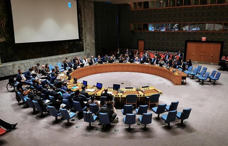 Toàn cảnh phiên họp Hội đồng Bảo an LHQ ở New York (Mỹ) - Nguồn: THX/TTXVN