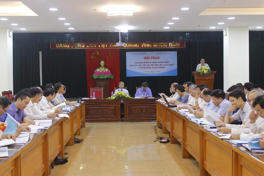 Xác định những nhiệm vụ do Đảng, Nhà nước giao cho Liên hiệp các Hội Khoa học và Kỹ thuật Việt Nam