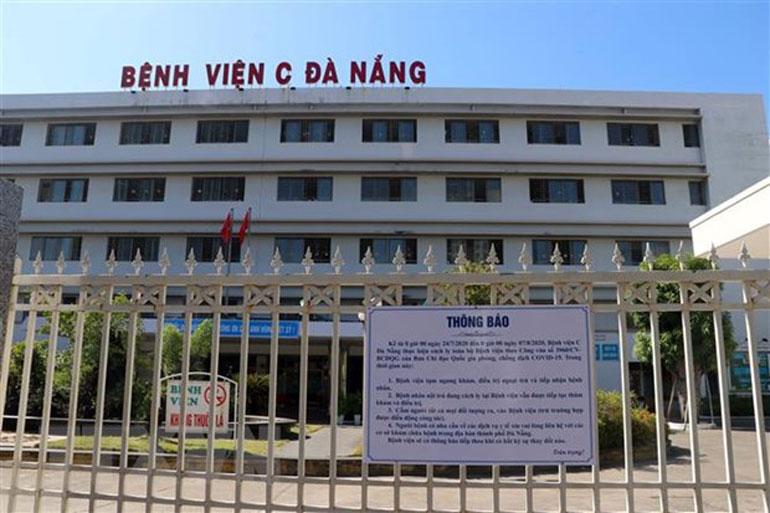 Bệnh viện C Đà Nẵng tiếp tục thực hiện cách ly y tế toàn bệnh viện từ 0 giờ ngày 24/7/2020 đến 0 giờ ngày 7/8/2020 - Ảnh: TTXVN