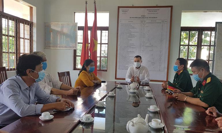 Chủ tịch UBND tỉnh Phú Yên Phạm Đại Dương phát biểu tại Trung đoàn Bộ binh 888. Ảnh: YÊN LAN