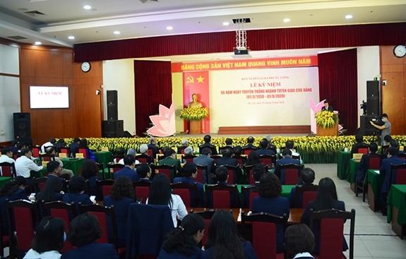 Các trí thức tham dự Lễ kỷ niệm 90 năm ngành Tuyên giáo (8/2020)