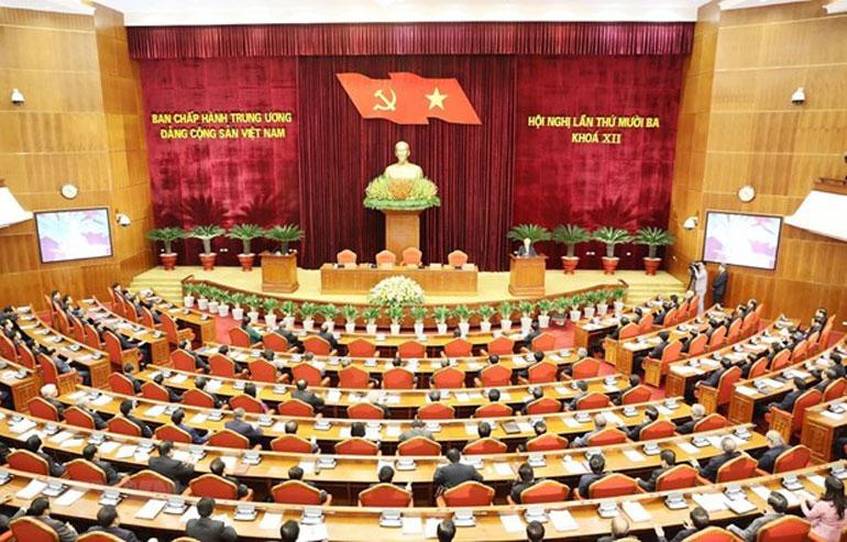 Quang cảnh Hội nghị lần thứ 13, Ban Chấp hành Trung ương Đảng - Nguồn: TTXVN