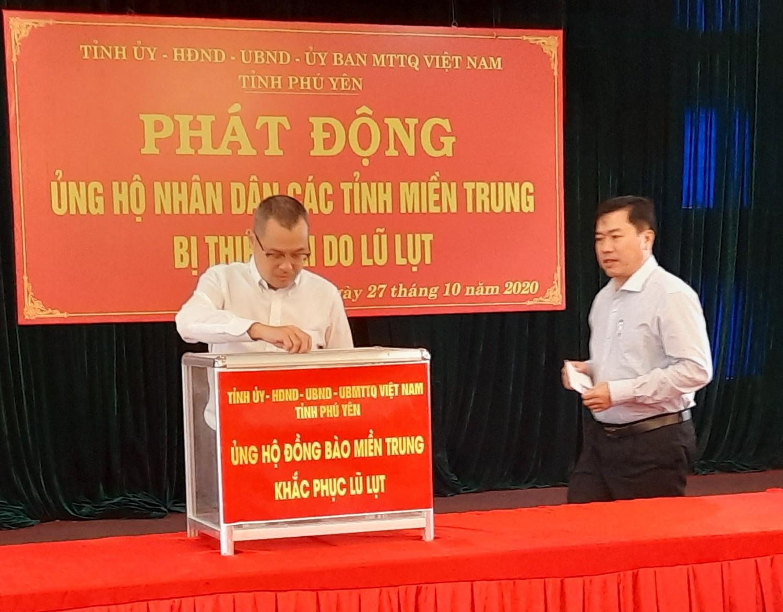 Phú Yên: phát động ủng hộ đồng bào Miền Trung - Tây Nguyên khắc phục hậu quả thiên tai