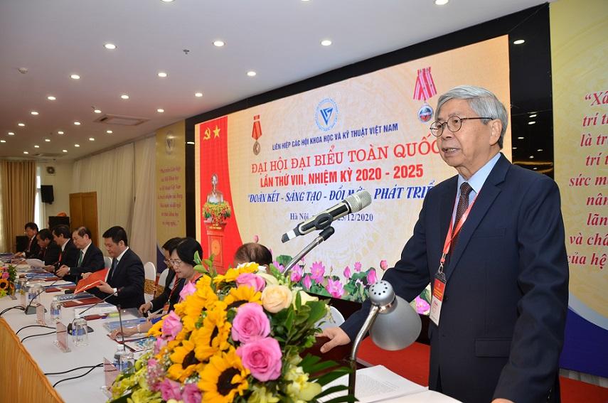 Chủ tịch LHHVN Đặng Vũ Minh phát biểu khai mạc Đại hội