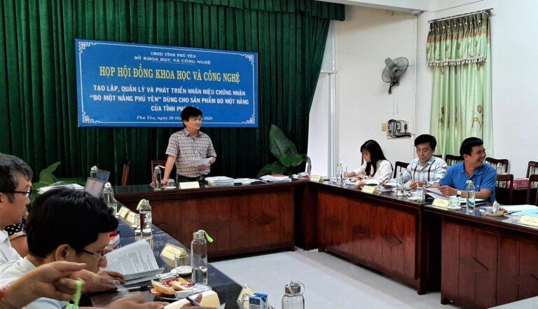 """Nghiệm thu dự án: Tạo lập, quản lý và phát triển Nhãn hiệu chứng nhận """"Bò một nắng Phú Yên"""""""