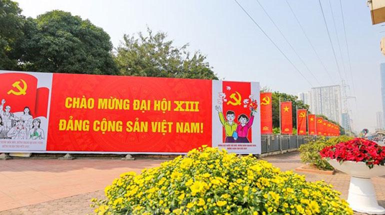 Đại hội Đại biểu toàn quốc lần thứ XIII của Đảng sẽ chính thức diễn ra từ ngày 25/1 đến ngày 2/2/2021 tại Thủ đô Hà Nội. Ảnh: Vietnam+