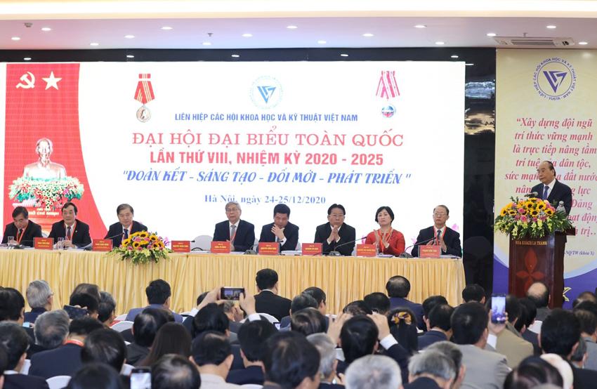 Thủ tướng Chính phủ Nguyễn Xuân Phúc phát biểu tại Đại hội VIII LHHVN