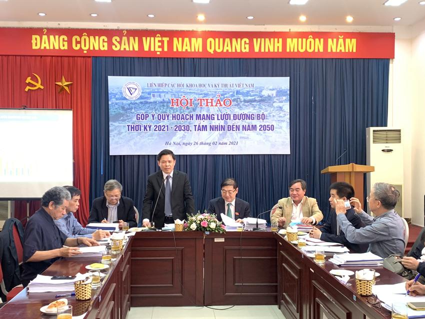 Liên hiệp các Hội Khoa học và Kỹ thuật Việt Nam góp ý quy hoạch mạng lưới đường bộ thời kỳ 2021-2030, tầm nhìn 2050