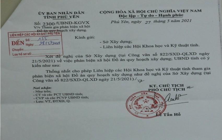 Nội dung văn bản của UBND trỉnh Phú Yên